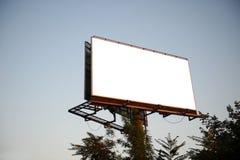 在sity的空的广告牌您的广告的 免版税库存图片