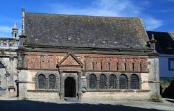 在Sizun的教区关闭在布里坦尼,法国 库存照片