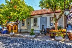 在skadarska街道的纪念碑 免版税库存图片