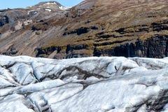在Skaftafell冰岛冰川的IceClimbing 免版税库存图片