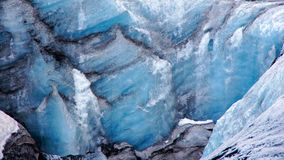 在Skaftafell附近的Solheimajokull冰川在冰岛 库存图片