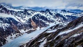 在Skagway,阿拉斯加附近的冰川 库存照片