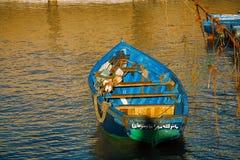 在Skala du Port的小船在索维拉,摩洛哥 库存照片