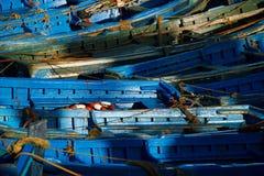 在Skala du Port的小船在索维拉,摩洛哥 库存图片