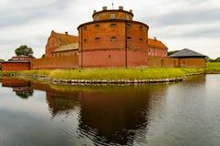 在skane瑞典的Lansskrona citadell 免版税库存图片