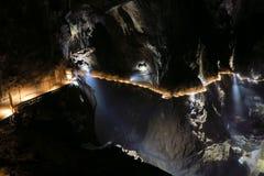 在Skocjan里面的有启发性走道陷下,一个UNESCO's natur 库存图片