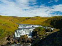 在Skoga河的小瀑布 库存照片