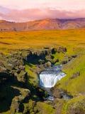 在Skoga河的小瀑布 免版税库存图片