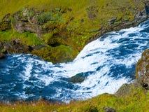 在Skoga河的小瀑布 库存图片