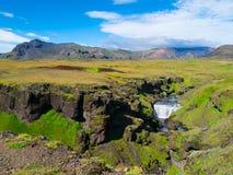 在Skoga河的小瀑布 免版税库存照片