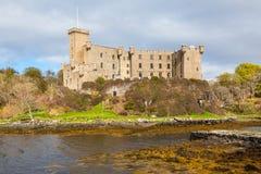 在Skye小岛,苏格兰的Dunvegan城堡 免版税图库摄影