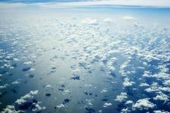 在skyscape的印度洋 库存图片