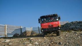 在slovac山的Tatra卡车 库存照片