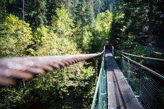 在Slovensky拉杰的拉诺娃Lavka桥梁 免版税库存照片