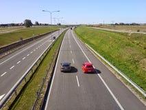 在Slupsk附近的波兰高速公路 免版税库存照片