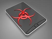 在smartphone的病毒 免版税库存图片
