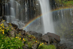 在Snaefellsnes半岛,冰岛的瀑布 库存图片
