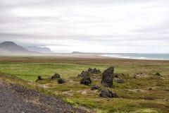 在Snaefellsnes的火山岩,冰岛 免版税库存照片