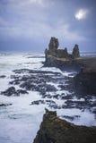 在Snaefellsness半岛,冰岛的Londrangar 库存图片