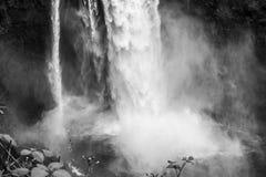 在Snoqualmie特写镜头的瀑布 库存照片