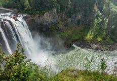 在Snoqualmie的瀑布 图库摄影