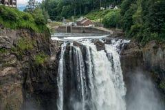 在Snoqualmie 10的瀑布 库存照片