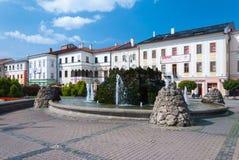 在SNP正方形的Fontain, Banska Bystrica 库存照片