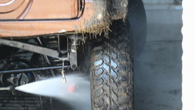在soapsuds的现代汽车在自动洗涤物 股票录像
