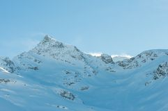 在Soelden的高山阿尔卑斯山风景 库存图片