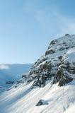 在Soelden的高山阿尔卑斯山风景 免版税库存图片