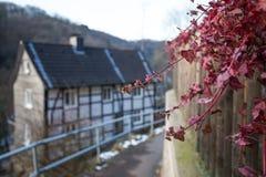 在solingen德国附近的古镇城镇 库存照片