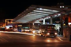 在Solomos广场的汽车站中央在尼科西亚 塞浦路斯 免版税图库摄影