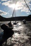 在Solva的游艇 免版税库存图片