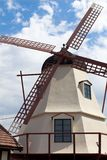 在Solvang,加州的荷兰语风车 库存照片