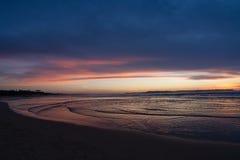 在Somo海滩的Colorfull日落 免版税图库摄影
