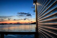 在songkhla的美好的日落 免版税图库摄影