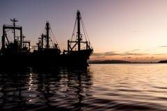 在songkhla的货船 免版税库存图片