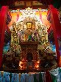 在Songzanlin喇嘛西藏寺庙里面的藏语菩萨在Zhongdia 库存照片