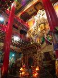 在Songzanlin喇嘛西藏寺庙里面的藏语菩萨在Zhongdia 免版税库存照片