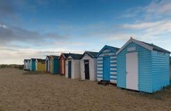 在southwold的海滩小屋 免版税库存照片
