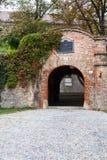 在Spilberk城堡,布尔诺镇的入口 免版税库存照片