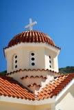 在spili附近的克利特希腊修道院 免版税库存照片