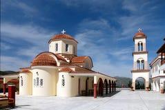 在spili附近的克利特希腊修道院 库存图片