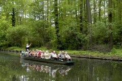 在Spreewald的小船旅行 库存照片