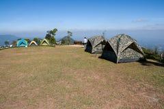 在SriNan国家公园的宿营地 免版税库存照片