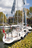 在st凯瑟琳的小船靠码头,伦敦的中心 免版税图库摄影