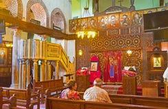 在St巴巴拉教会里 免版税库存照片