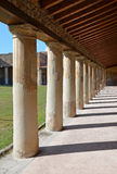 在Stabian浴(Terme Stabiane)的Peristyle,庞贝城 免版税库存照片