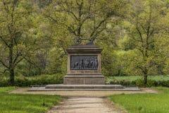 在Stadice村庄附近的纪念碑在北部波希米亚 免版税库存图片