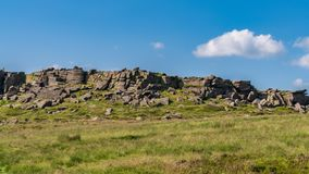 在Stanage边缘,德贝郡,英国,英国的高峰区风景 免版税库存照片
